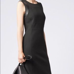 Hugo Boss Shift Dress with Faux Leather trim